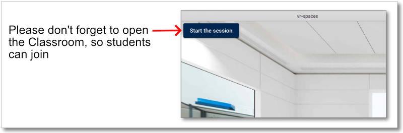 Virtual Classroom - Opening training session