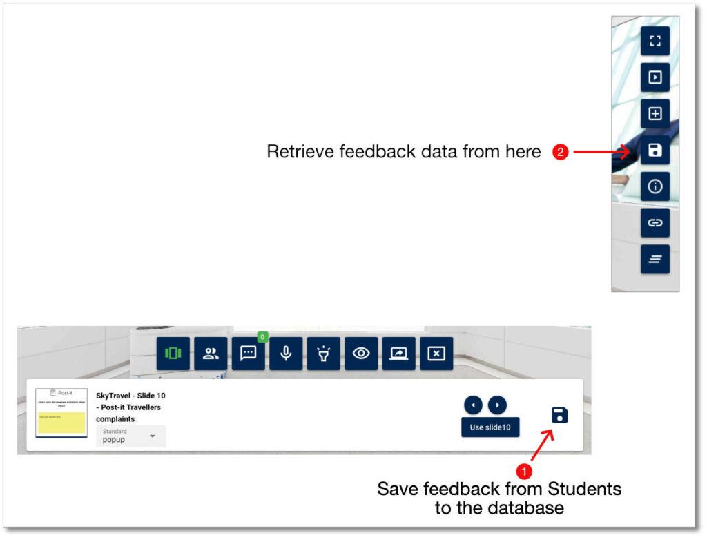 Virtual Classroom - Save and retrieve content