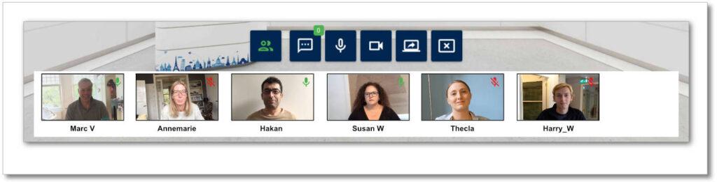 Virtual Classroom - Webcam Bar
