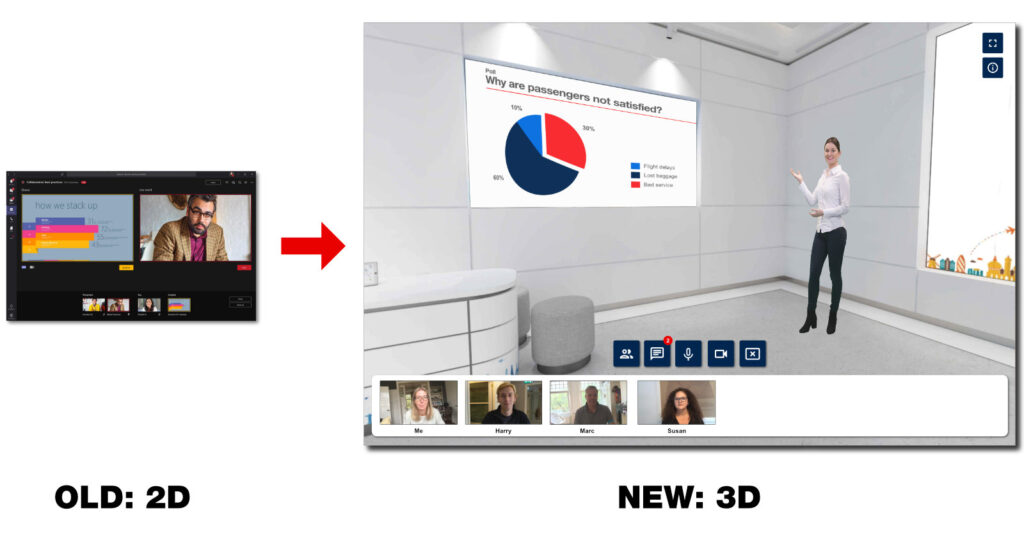 3D Virtual Classroom - old and new
