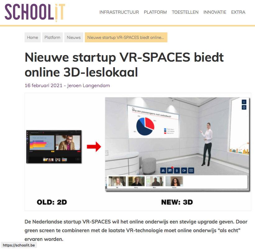 Publicatie SchoolIT over VR-Spaces