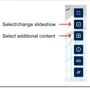 Virtual Classroom - Select new slideshow or additional content